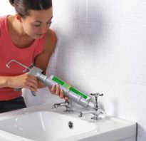 Как правильно нанести герметик в ванной