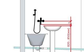 Кран в ванную комнату