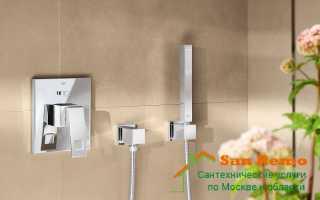 Монтаж гигиенического душа в туалете