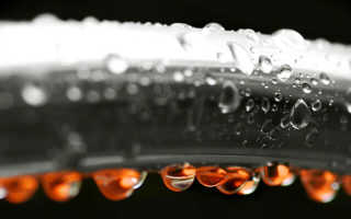 Конденсат на трубах холодной воды