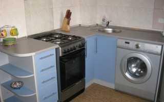 Как подключить стиральную машину на кухне