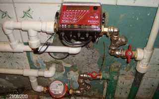 Счетчик воды с датчиком температуры